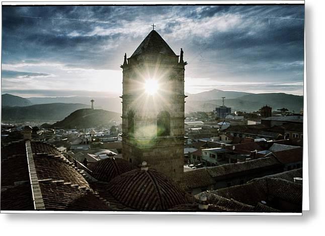 Sun Tower Of Potosi Vintage Greeting Card