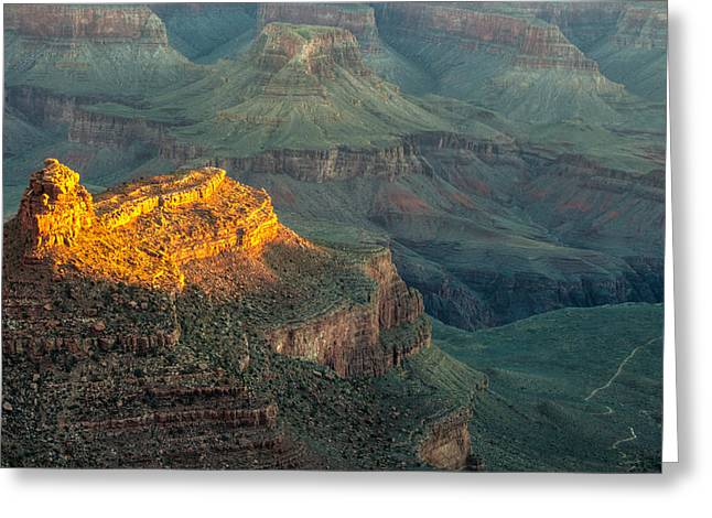 Greeting Card featuring the photograph Sun-up At Grand Canyon Mike-hope by Michael Hope