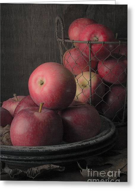 Sun Warmed Apples Still Life Greeting Card by Edward Fielding