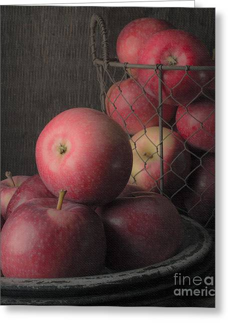 Sun Warmed Apples Still Life Standard Sizes Greeting Card by Edward Fielding