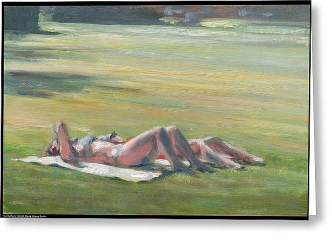 Sunbathers Greeting Card