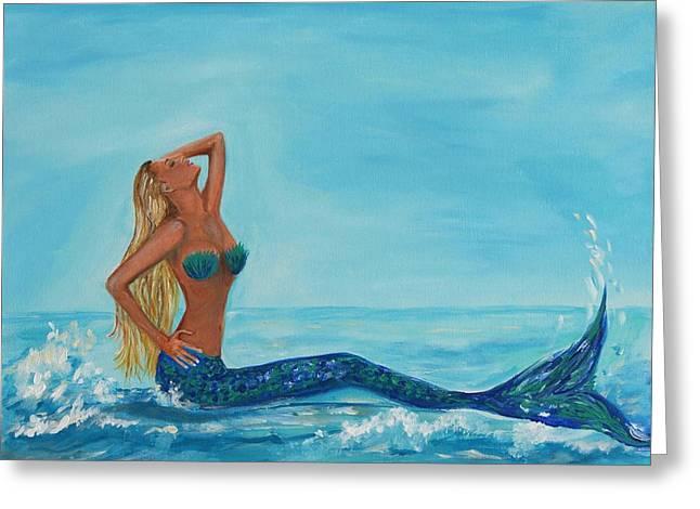 Sunbathing Mermaid Greeting Card
