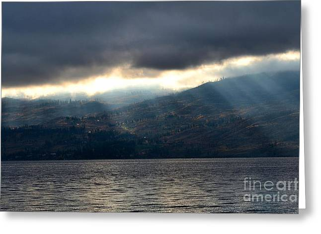 Sunbeams On The Mission II Greeting Card by Phil Dionne