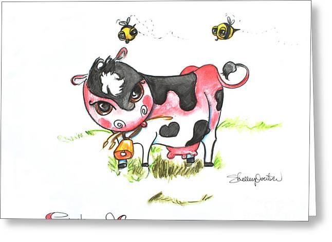 Sunburned Cow Greeting Card