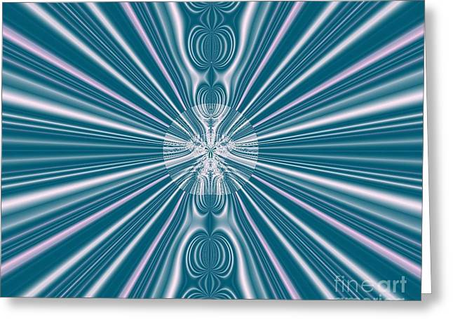 Greeting Card featuring the digital art Sunburst In The Rain by Luther Fine Art