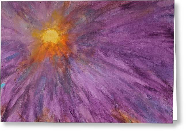 Sunburst Mandala  Greeting Card
