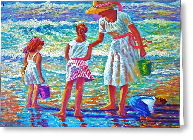 Sunday Afternoon At The Beach Greeting Card by Joseph   Ruff