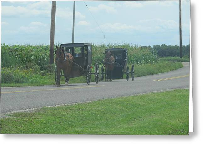 Greeting Card featuring the photograph Sunday Afternoon Ride by Tina M Wenger