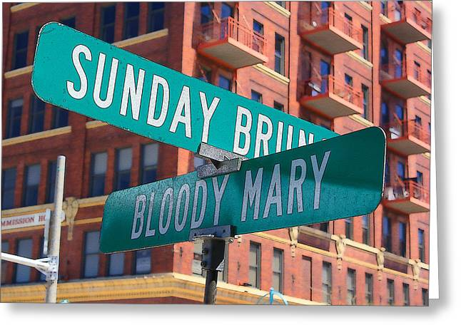 Sunday Bloody Sunday Greeting Card by Geoff Strehlow