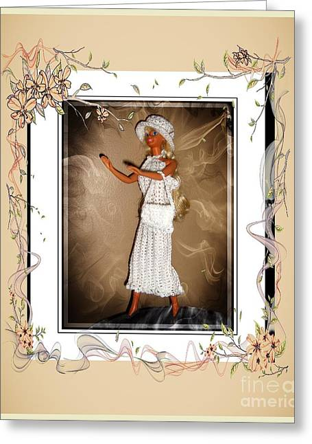 Sunday Brunch With Friends - Fashion Doll - Girls - Collection Greeting Card by Barbara Griffin