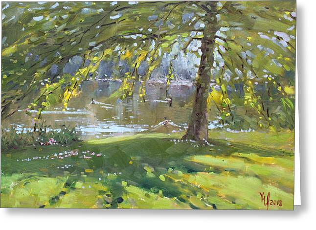 Sunday By The Pond In Port Credit Mississauga Greeting Card