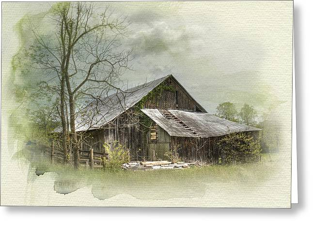 Sunday Drive Barn Greeting Card by Kathleen Holley