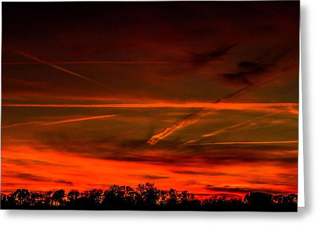 Sunday Evening With Watermark Greeting Card by Jahred Allen