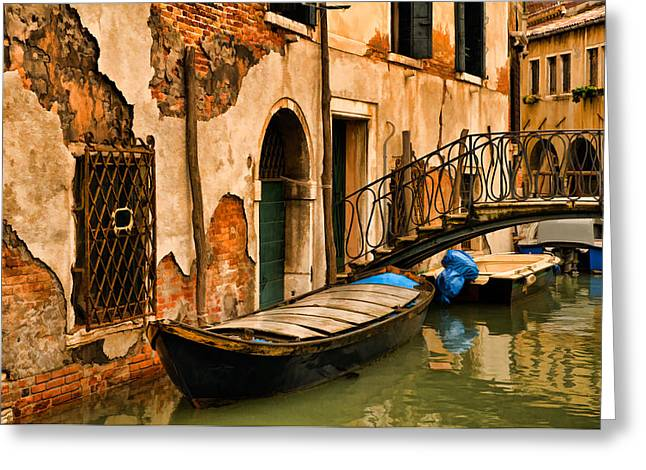 Sunday In Venice Greeting Card by Mick Burkey
