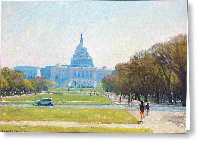 Sunday Morning At The Capitol Greeting Card