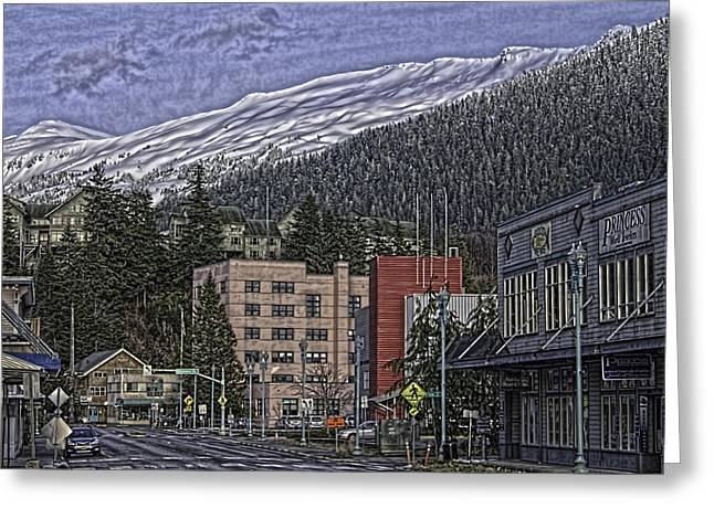 Sunday Morning In Ketchikan Greeting Card by Timothy Latta