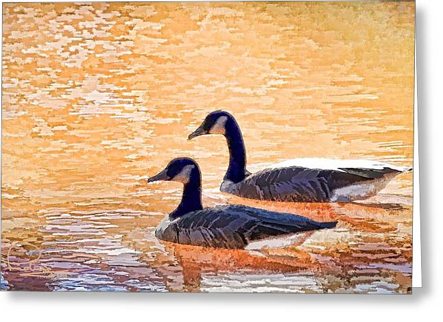 Greeting Card featuring the photograph Sunday On The Pond by Ludwig Keck