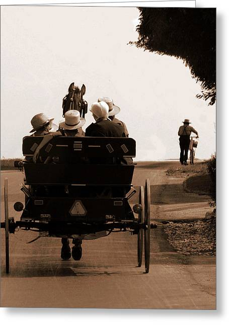 Sunday Ride Greeting Card by Teri Moore