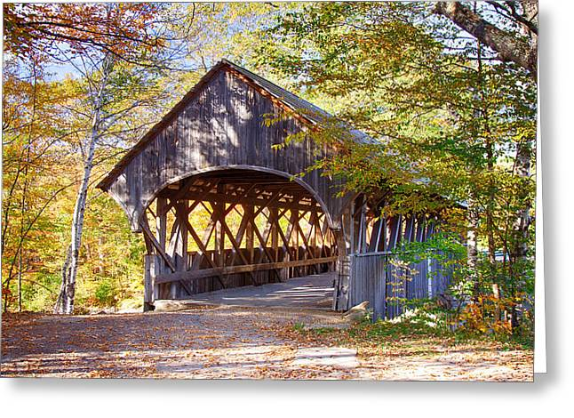 Sunday River Covered Bridge Greeting Card