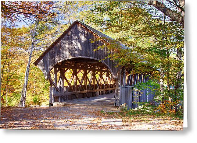 Sunday River Covered Bridge Greeting Card