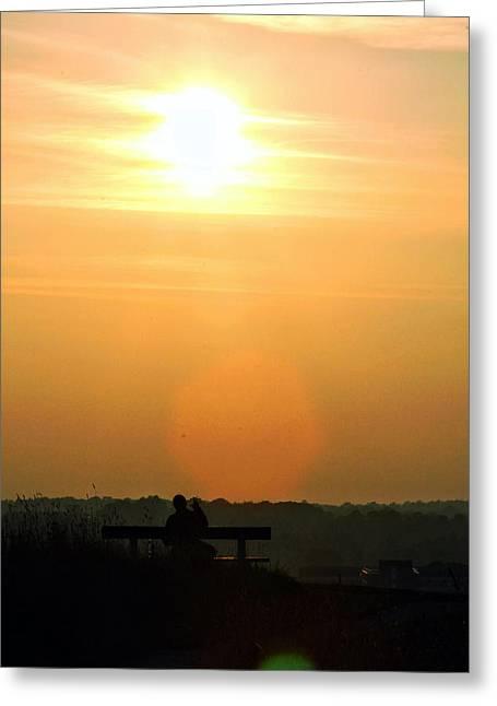 Sunday Sunset Greeting Card by Pedro Fernandez