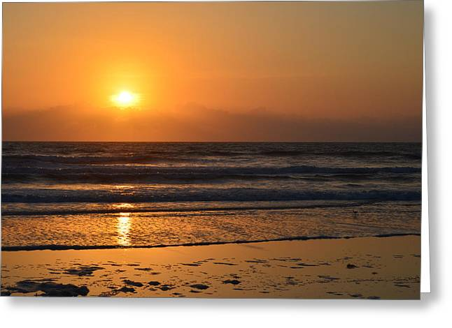 Greeting Card featuring the photograph Sundays Golden Sunrise by DigiArt Diaries by Vicky B Fuller