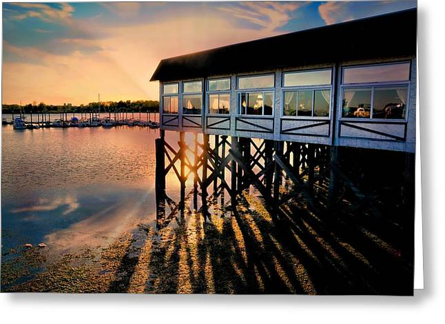 Sundeck Greeting Card by Diana Angstadt