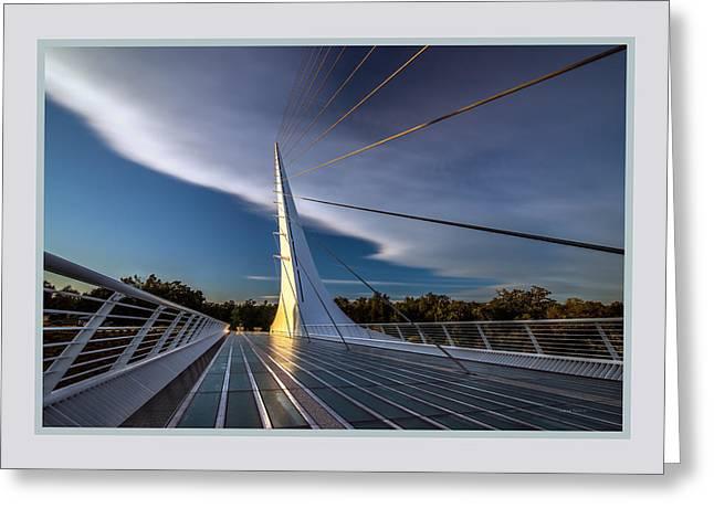 Sundial Bridge 2b Greeting Card by Leland D Howard