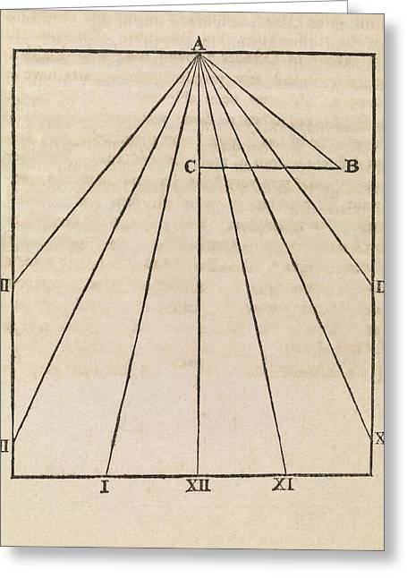 Sundial Diagram Greeting Card by Middle Temple Library