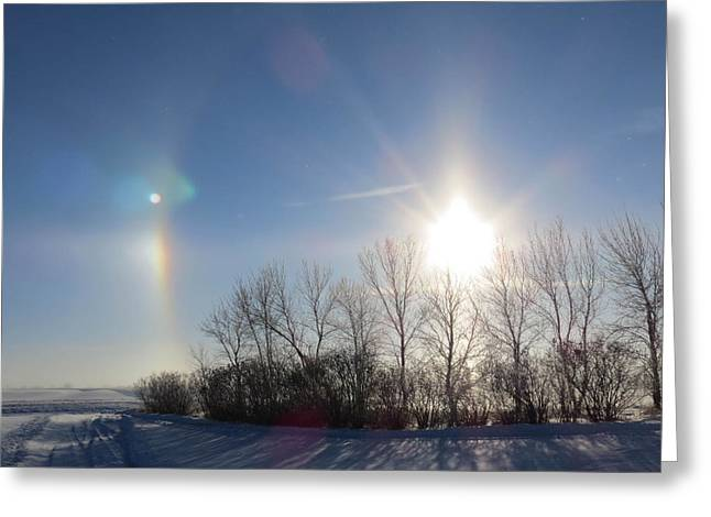 Sundog In North Dakota Greeting Card