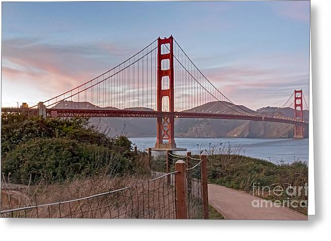 Greeting Card featuring the photograph Sundown Bridge by Kate Brown