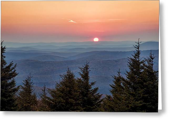 Sundown From Spruce Knob Greeting Card by Jaki Miller