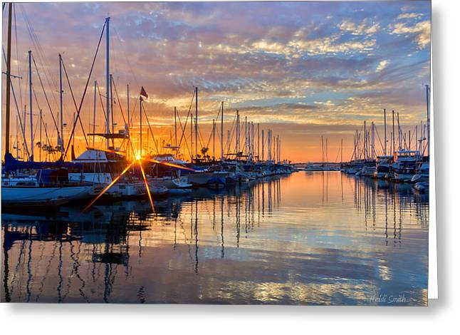 Sundown Greeting Card by Heidi Smith