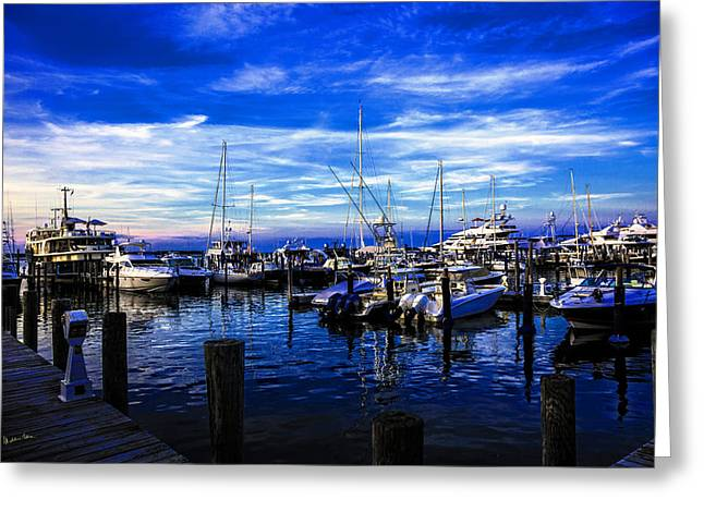 Sundown In Sag Harbor Greeting Card