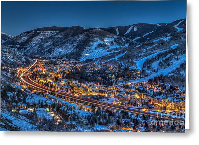 Sundown In The Vail Greeting Card