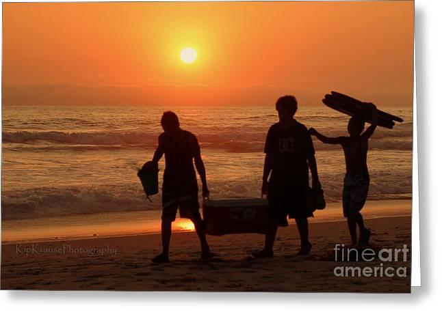 Sundown Greeting Card by Kip Krause
