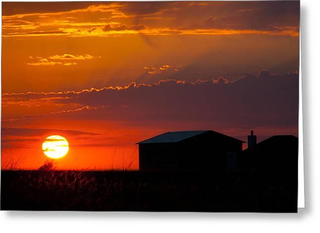 Sundown Greeting Card by Mark Alder