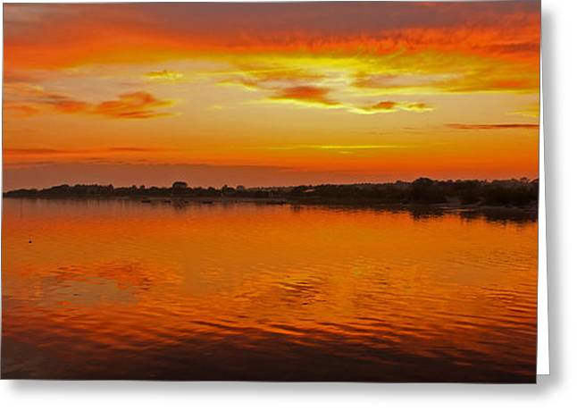 Greeting Card featuring the photograph Sundown Near Jastarnia At Hel Penisula In Poland by Julis Simo