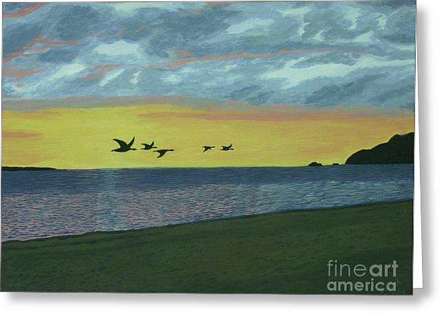 Sundown On Lake Superior Greeting Card