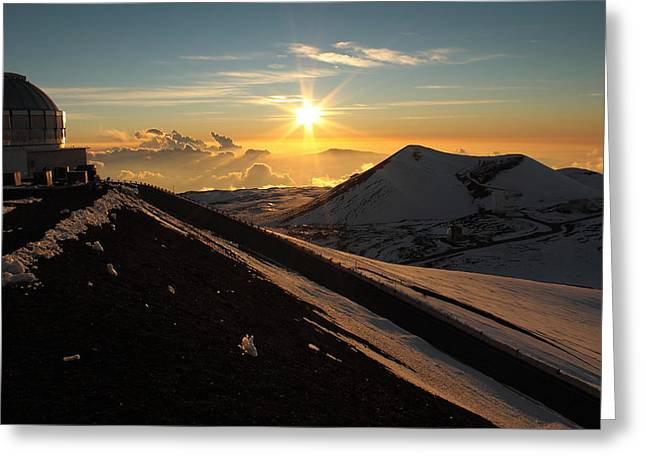 Sundown On Mauna Kea Greeting Card by Scott Rackers