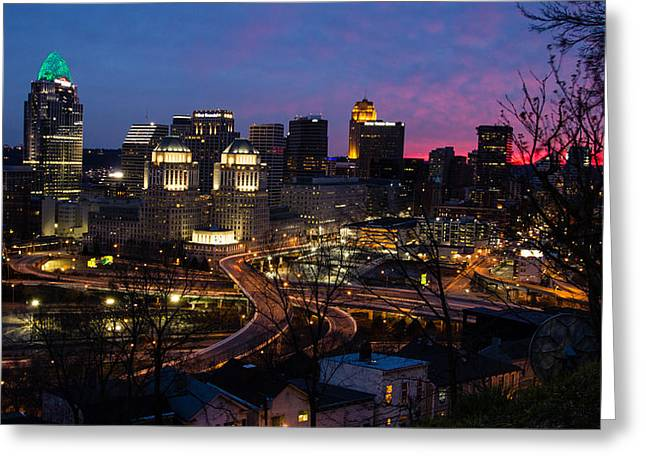Sundown On The City Greeting Card