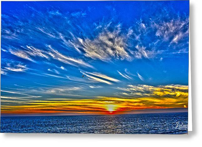 Sundown Over Pacific Greeting Card