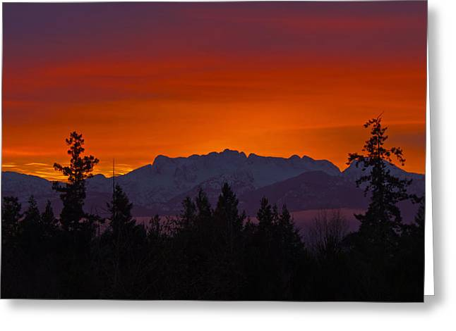 Sundown Greeting Card by Randy Hall