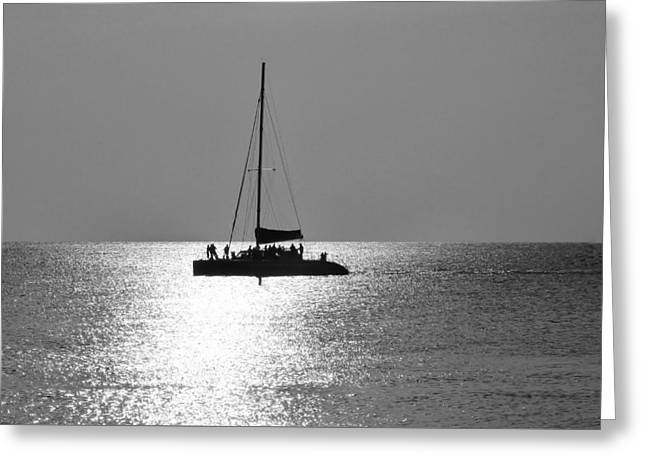 Sundown Sail Greeting Card by Amar Sheow