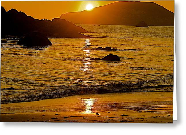 Sundown Sea Greeting Card
