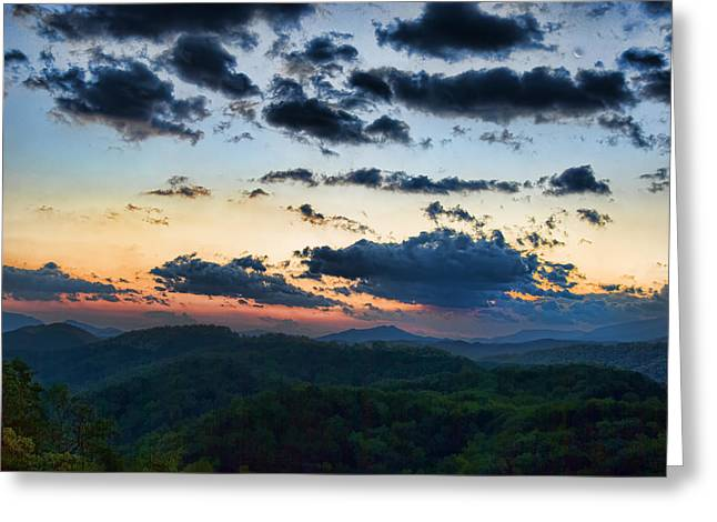 Sundown Greeting Card by Steven Richardson
