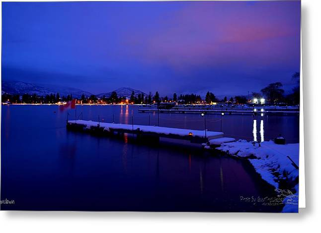 Sundown - The Blue Hour At Skaha Lake Greeting Card
