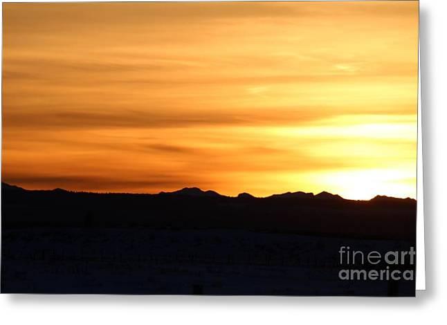 Sundre Sunset Greeting Card