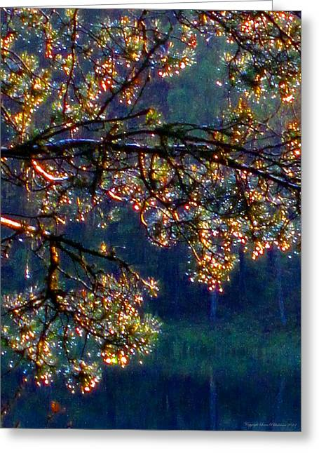 Greeting Card featuring the photograph Sundrops by Leena Pekkalainen