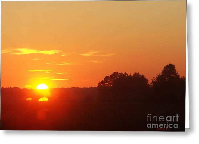 Greeting Card featuring the photograph Sundown by Jasna Dragun